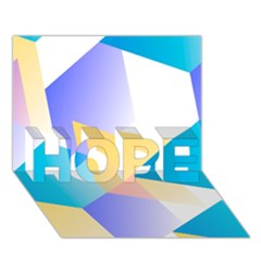 Geometric 03 Blue Hope 3d Greeting Card (7x5)  by MoreColorsinLife