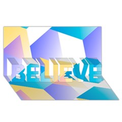 Geometric 03 Blue Believe 3d Greeting Card (8x4)  by MoreColorsinLife