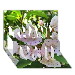 Amazing Garden Flowers 35 Thank You 3d Greeting Card (7x5)