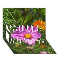 Amazing Garden Flowers 24 You Are Invited 3d Greeting Card (7x5)  by MoreColorsinLife