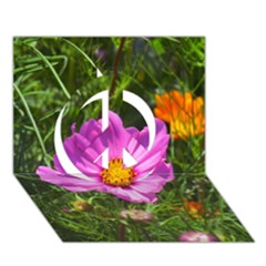 Amazing Garden Flowers 24 Peace Sign 3d Greeting Card (7x5)  by MoreColorsinLife