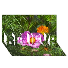 Amazing Garden Flowers 24 Believe 3d Greeting Card (8x4)  by MoreColorsinLife