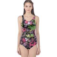 Amazing Garden Flowers 33 Women s One Piece Swimsuits by MoreColorsinLife