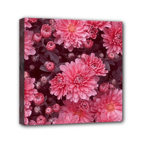 Awesome Flowers Red Mini Canvas 6  X 6  by MoreColorsinLife
