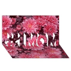Awesome Flowers Red #1 Mom 3d Greeting Cards (8x4)