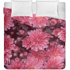 Awesome Flowers Red Duvet Cover (king Size) by MoreColorsinLife