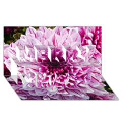Wonderful Flowers Merry Xmas 3d Greeting Card (8x4)