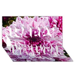 Wonderful Flowers Happy New Year 3d Greeting Card (8x4)