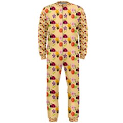 Colorful Ladybug Bess And Flowers Pattern Onepiece Jumpsuit (men)  by creativemom