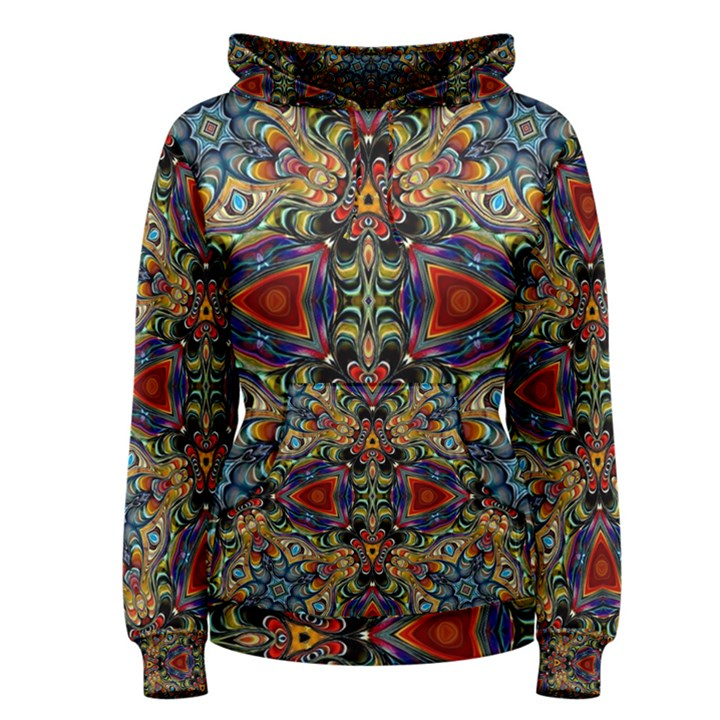 Magnificent Kaleido Design Women s Pullover Hoodies