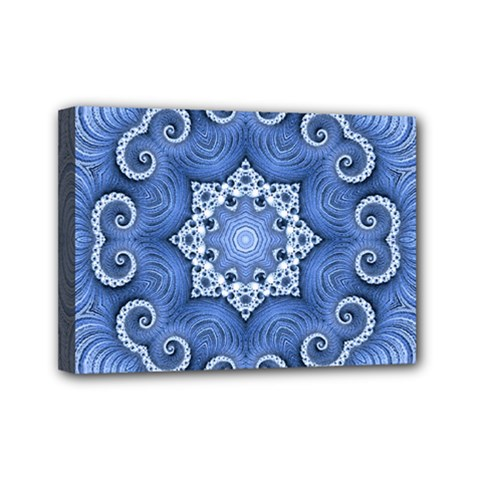 Awesome Kaleido 07 Blue Mini Canvas 7  X 5