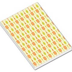 Spatula Spoon Pattern Large Memo Pads by creativemom