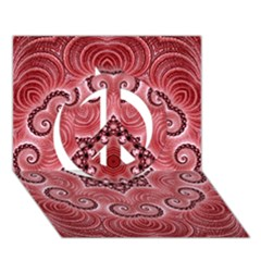 Awesome Kaleido 07 Red Peace Sign 3d Greeting Card (7x5)