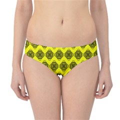 Abstract Knot Geometric Tile Pattern Hipster Bikini Bottoms by creativemom
