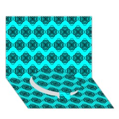 Abstract Knot Geometric Tile Pattern Circle Bottom 3d Greeting Card (7x5)  by creativemom
