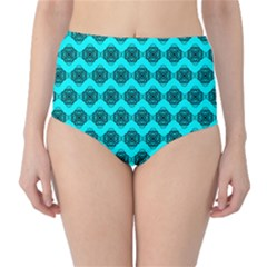 Abstract Knot Geometric Tile Pattern High Waist Bikini Bottoms by creativemom