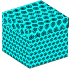 Abstract Knot Geometric Tile Pattern Storage Stool 12