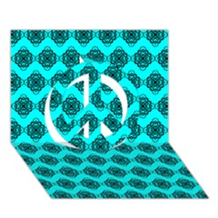 Abstract Knot Geometric Tile Pattern Peace Sign 3d Greeting Card (7x5)  by creativemom
