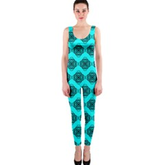 Abstract Knot Geometric Tile Pattern Onepiece Catsuits by creativemom