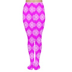 Abstract Knot Geometric Tile Pattern Women s Tights by creativemom
