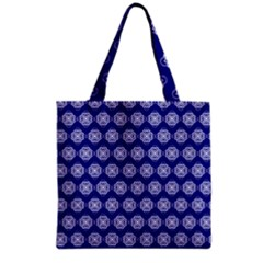 Abstract Knot Geometric Tile Pattern Grocery Tote Bags