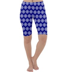 Abstract Knot Geometric Tile Pattern Cropped Leggings