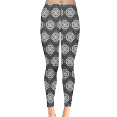 Abstract Knot Geometric Tile Pattern Women s Leggings by creativemom