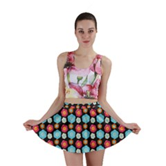 Colorful Floral Pattern Mini Skirts