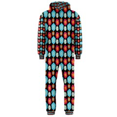 Colorful Floral Pattern Hooded Jumpsuit (men)  by creativemom