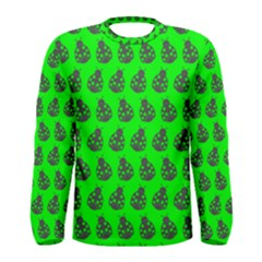 Ladybug Vector Geometric Tile Pattern Men s Long Sleeve T Shirts