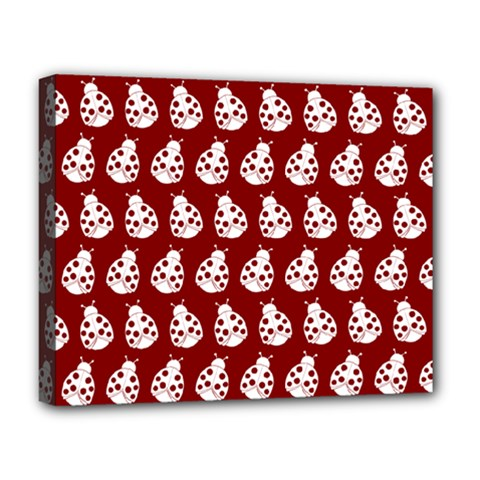 Ladybug Vector Geometric Tile Pattern Deluxe Canvas 20  X 16   by creativemom