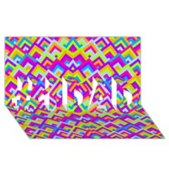 Colorful Trendy Chic Modern Chevron Pattern #1 Dad 3d Greeting Card (8x4)  by creativemom