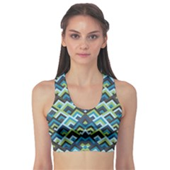 Trendy Chic Modern Chevron Pattern Sports Bra by creativemom