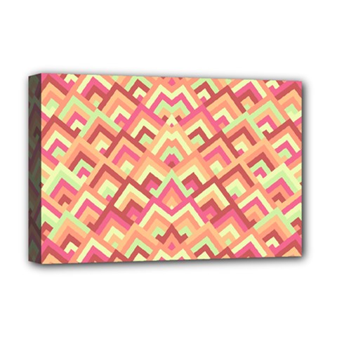 Trendy Chic Modern Chevron Pattern Deluxe Canvas 18  X 12   by creativemom