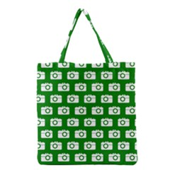 Modern Chic Vector Camera Illustration Pattern Grocery Tote Bags