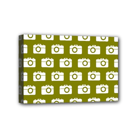 Modern Chic Vector Camera Illustration Pattern Mini Canvas 6  X 4  by creativemom