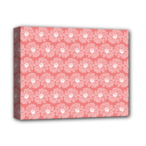 Coral Pink Gerbera Daisy Vector Tile Pattern Deluxe Canvas 14  X 11  by creativemom