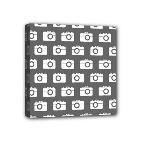Modern Chic Vector Camera Illustration Pattern Mini Canvas 4  X 4  by creativemom