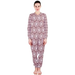 Gerbera Daisy Vector Tile Pattern Onepiece Jumpsuit (ladies)  by creativemom