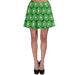 Gerbera Daisy Vector Tile Pattern Skater Skirts by creativemom