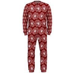 Gerbera Daisy Vector Tile Pattern Onepiece Jumpsuit (men)  by creativemom