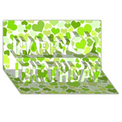 Heart 2014 0908 Happy Birthday 3d Greeting Card (8x4)  by JAMFoto