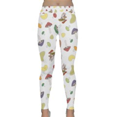 Mushrooms Pattern Yoga Leggings by Famous