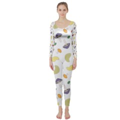 Mushrooms Pattern Long Sleeve Catsuit by Famous