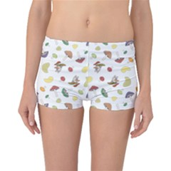 Mushrooms Pattern Boyleg Bikini Bottoms by Famous
