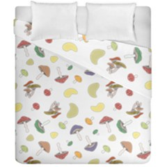 Mushrooms Pattern Duvet Cover (double Size) by Famous