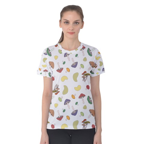 Mushrooms 002b Women s Cotton Tees by Famous