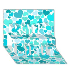 Heart 2014 0918 You Did It 3d Greeting Card (7x5) by JAMFoto