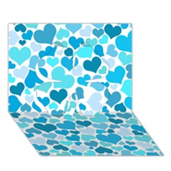 Heart 2014 0919 Clover 3d Greeting Card (7x5)  by JAMFoto