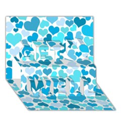 Heart 2014 0919 Get Well 3d Greeting Card (7x5)  by JAMFoto